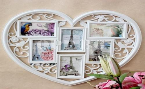 Винтидж Рамка за Снимки Голямо Сърце