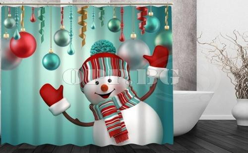 Коледна Завеса за Баня