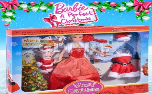 Коледна Кукла Барби с Бебе и Аксесоари