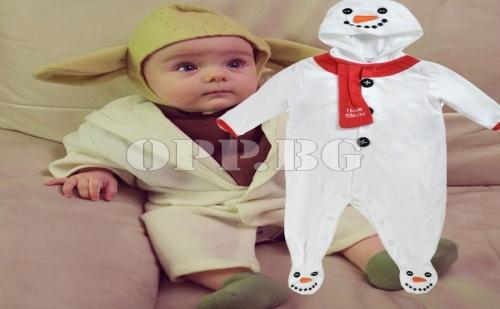Коледно Облекло за Бебе Снежен Човек