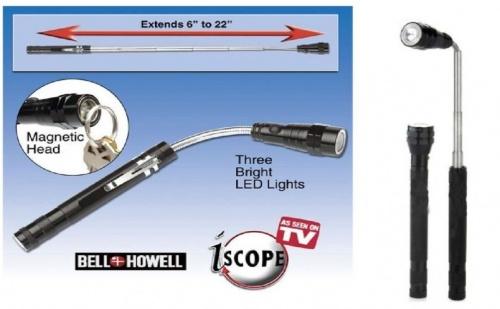 Телескопичен LED фенер с магнит
