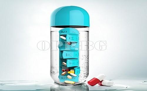 Бутилка с Вграден Органайзер за Лекарства, Витамини и Добавки