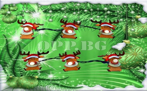 10 Броя Коледни Лампички Еленче