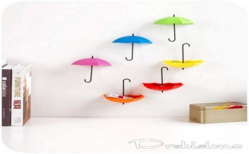 Четири Лепящи Закачалки - Цветни Чадърчета