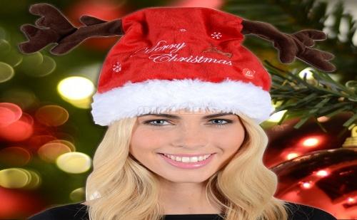 Най-Забавната Пееща Коледна Шапка с Танцуващи Еленови Рогца