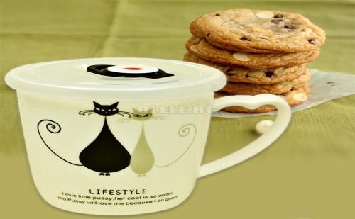 Порцеланова Чаша с Вакуумиращ Капак Lifestyle