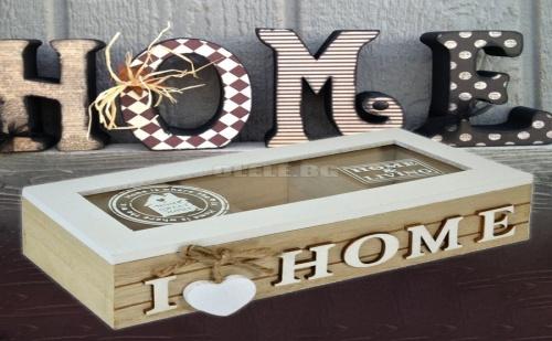 Дървена кутия Home