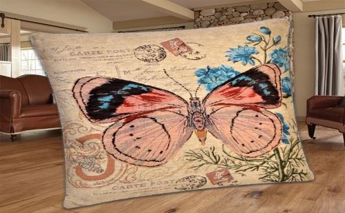 Декоративна Ретро Възглавница с Пеперуда