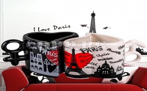 2 Броя Чаши за Влюбени Love Paris