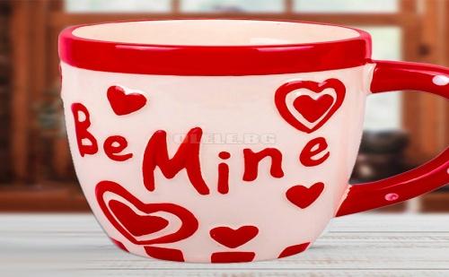Чаша с Релефни Сърца Be Mine