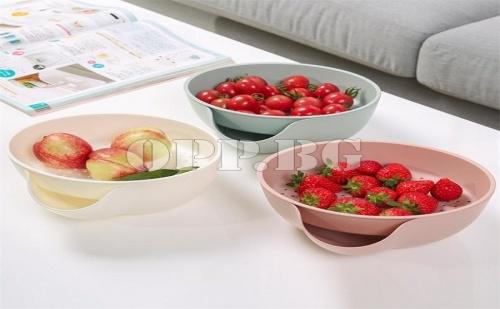 Купа 2 в 1 за Отцеждане на Плодове и Изхвърляне на Отпадъци