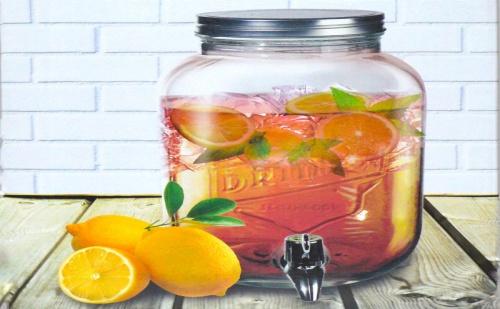 Стъклен Диспенсър за Напитки – Буркан