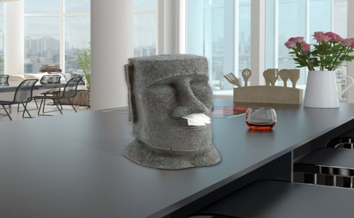 Моаи Статуя – Диспенсър за Кърпички