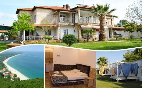От Май до 20.07  на Море в <em>Офринио</em>, Гърция на 50М. от Плажа! Нощувка за Двама, Трима или Четирима в Хотел Fernandos