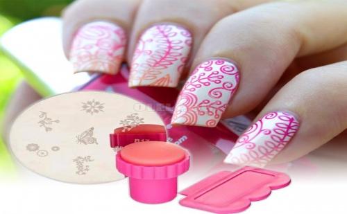 Сет за Маникюр Мини Печат Nail Art Stamp Set