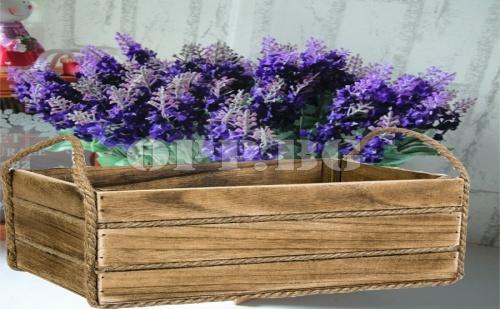 Ретро Дървена Саксия за Цветя