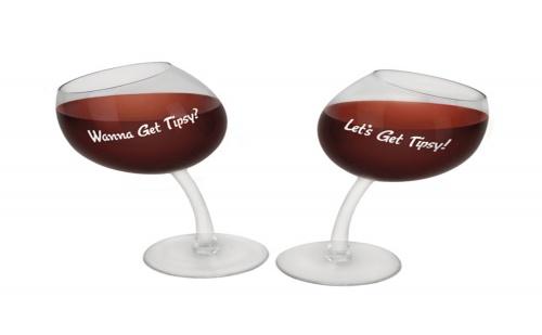 Наклонени Чаши за Вино (2Бр.)