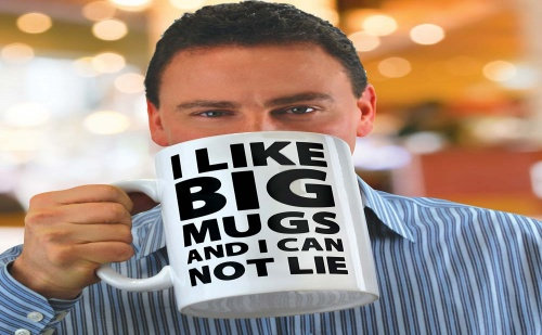 Огромна Чаша за Кафе (2 Литра)
