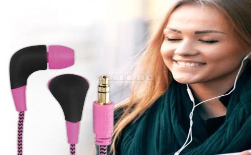 Слушалки Hama Neon Pink