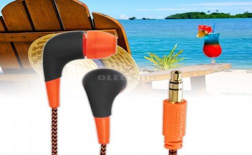 Слушалки Hama Neon Orange