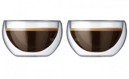 Сет 2 бр Чаши за Кафе/капучино с Двойно Стъкло