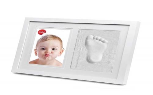 Рамка за Снимка на Бебе с Гипсов Отпечатък