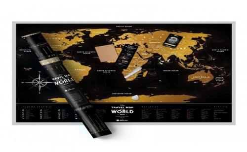 Скреч Карта на Света Black Deluxe Edition
