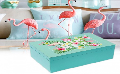 Дървена кутия Flamingo Summer