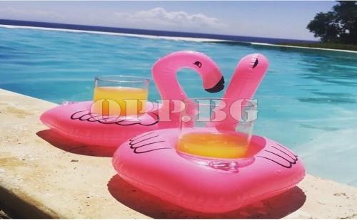 Надуваема Поставка за Чаши Фламинго