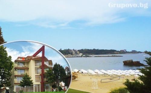 1 - 15 Септември Море на Първа Линия! Нощувка със Закуска, Обяд и Вечеря в Хотел Крим Панорама, Между Равда и Несебър