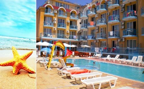 През Юли на 50М Плажа в Равда. Нощувка, Закуска и Вечеря + Басейн в Хотел Хит
