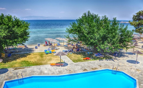 от 26.08-10.10 на о.Тасос - Нощувка в двойна супериор стая на база All Inclusive + басейн в хотел Sunrise Beach***