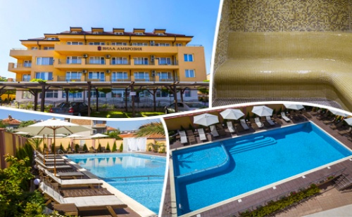 Цяло Лято в <em>Черноморец</em>! Нощувка, Закуска Обяд* и Вечеря + Басейн и Спа в Хотел Вила Амброзия