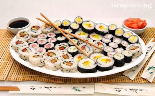 Суши сет с 48 хапки (780 грама) само за 22 лв. от Sushi House
