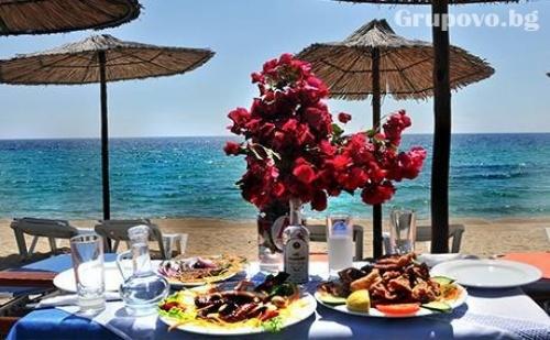 27 Юни - 30 Септември на Брега на Морето в Хотел Angelos Garden,  Халкидики, Гърция. Нощувка със Закуска и Вечеря на Топ Цени