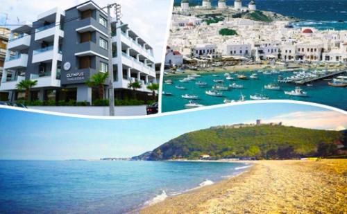 В <em>Паралия Катерини</em>, Гърция на 200 Метра от Плажа-Нощувка със Закуска за 61 лв.от Olympus Thalassea*** през Целия Септември!