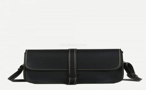 Дамска чанта Contrast Stitch Trim Shoulder Bag