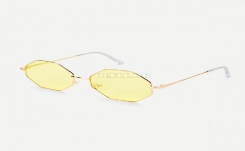 Дамски очила Metal Frame Geometric Lens Sunglasses