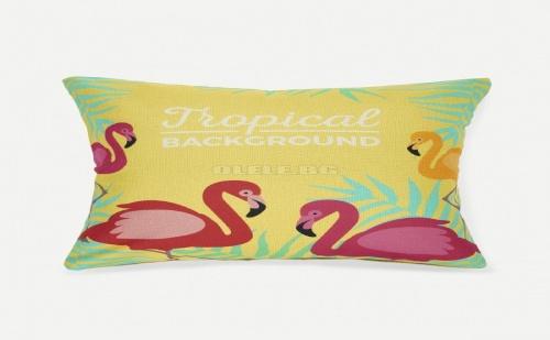 Калъфка за възглавница Flamingos Print Pillowcase Cover