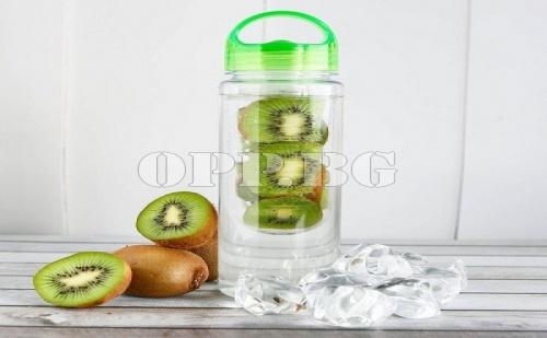 Детокс Бутилка за Вода и Ароматни Напитки с Инфузер