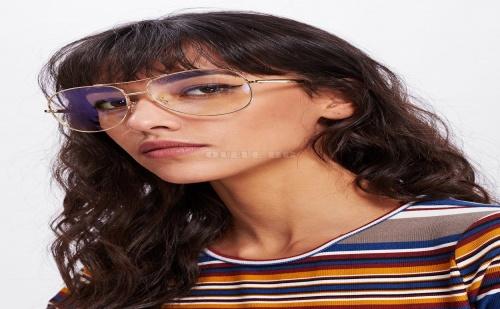 Дамски очила Double Bridge Metal Frame Glasses