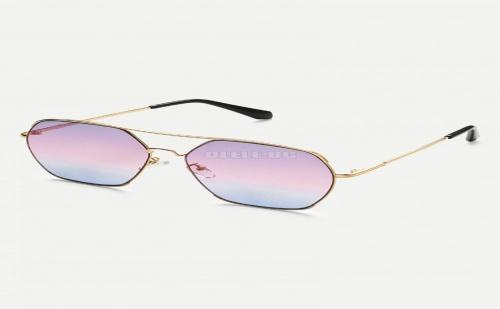 Дамски очила Double Bridge Metal Frame Sunglasses