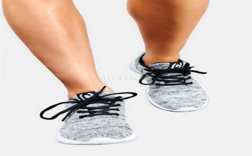 Дамски плетени сникърси Grey Sneakers With Laces
