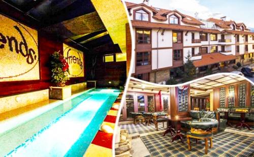 Нощувка на човек със Закуска + Голямо Джакузи за 33 лв. в Хотел Френдс, Банско