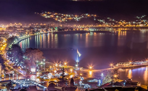 Нова Година на Охридското Езеро! Транспорт, 3 Нощувки на човек + Закуски, Вечери, Едната Празнична в Хотел Белведере