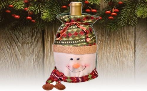 Весел Коледен Калъф за Бутилка