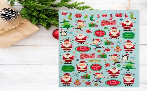 Коледен Албум с 250 Броя Стикери Дядо Коледа