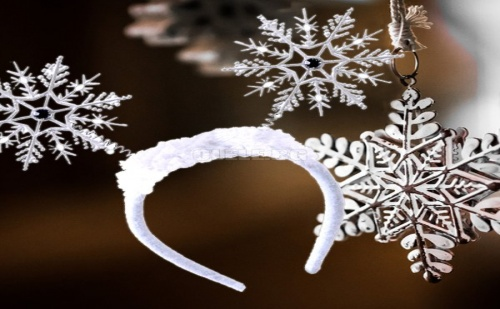 Коледна Диадема Снежинки