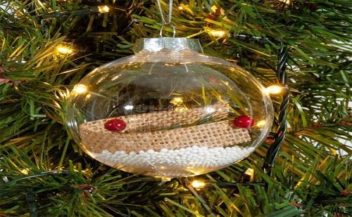 Прозрачна Коледна Топка с Лента