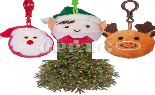 Плюшен Коледен Ключодържател по Избор